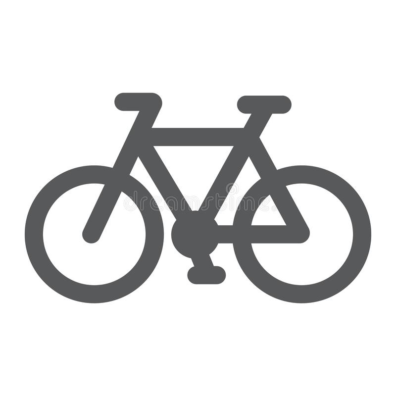 Bicycle glyph icon, cycle and sport, bike sign, vector graphics, a solid pattern on a white background. Bicycle glyph icon, cycle and sport, bike sign, vector vector illustration
