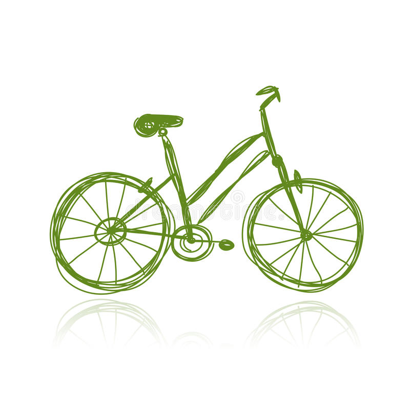 Download Bicycle Green Sketch For Your Design Stock Vector - Image: 31861797