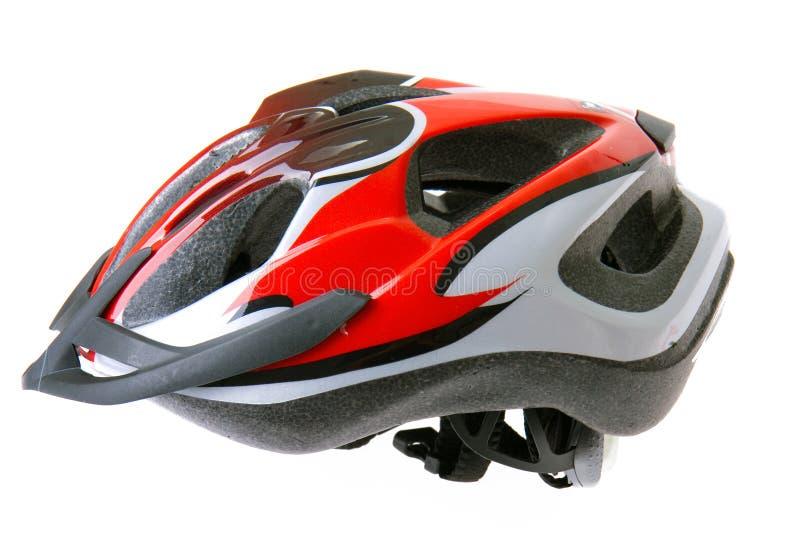Bicycle helmet. Isolated on white background royalty free stock image