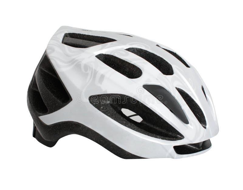 Bicycle helmet. On white bg stock photography