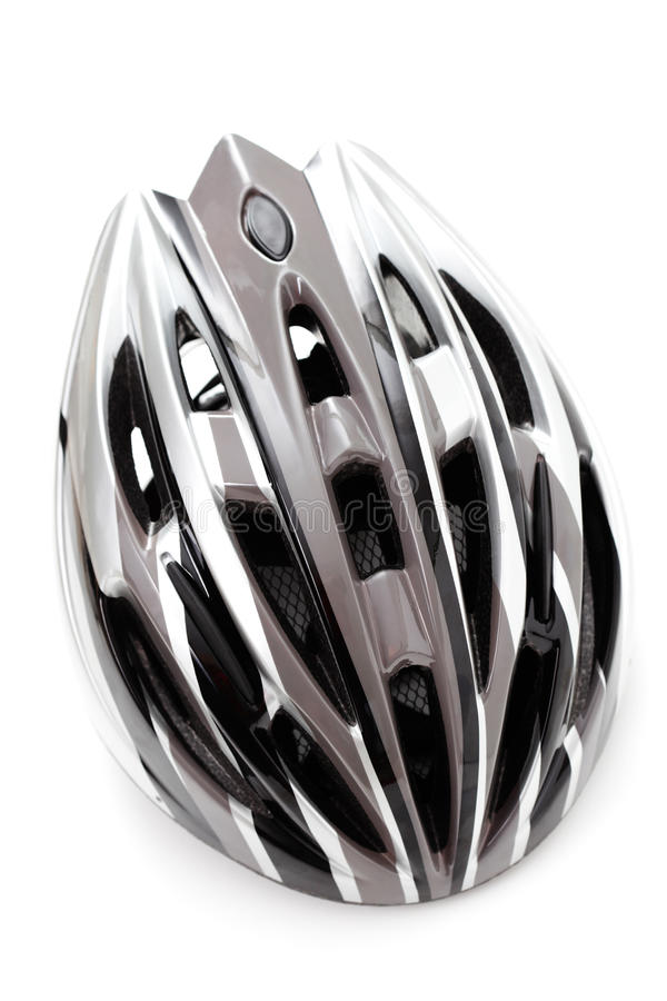 Bicycle helmet. On white - sport and leisure royalty free stock photography