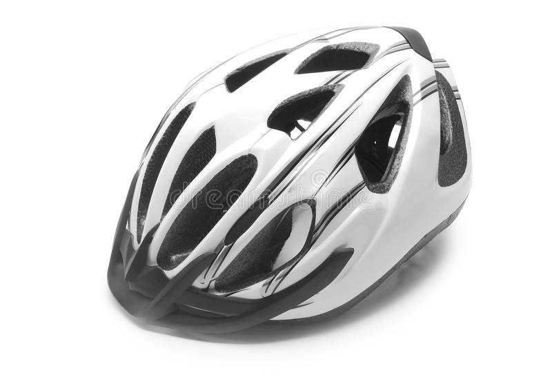 Bicycle helmet. On white background stock images