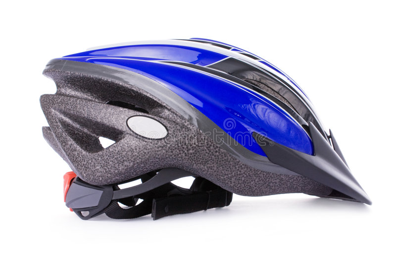 Bicycle helmet. Isolated on a white background royalty free stock photo