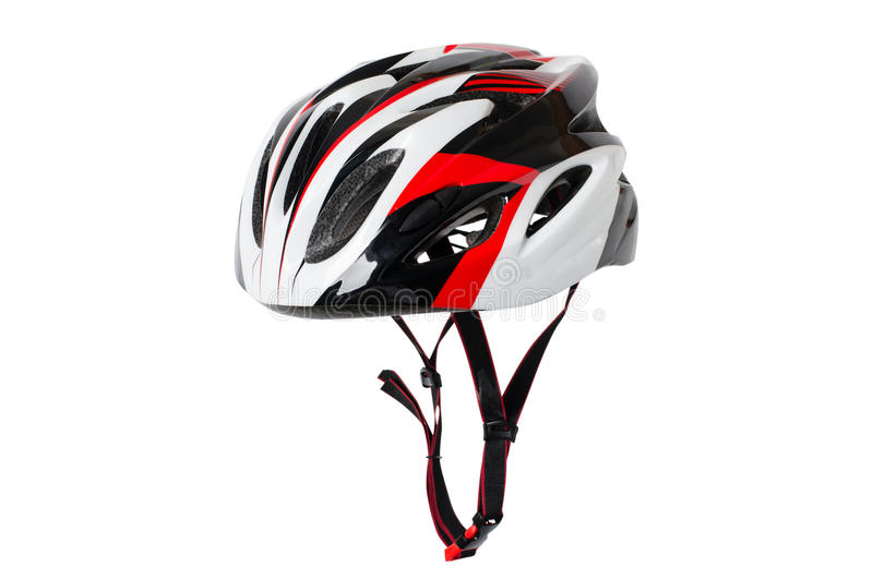 Bicycle helmet. Isolated on white background royalty free stock photos