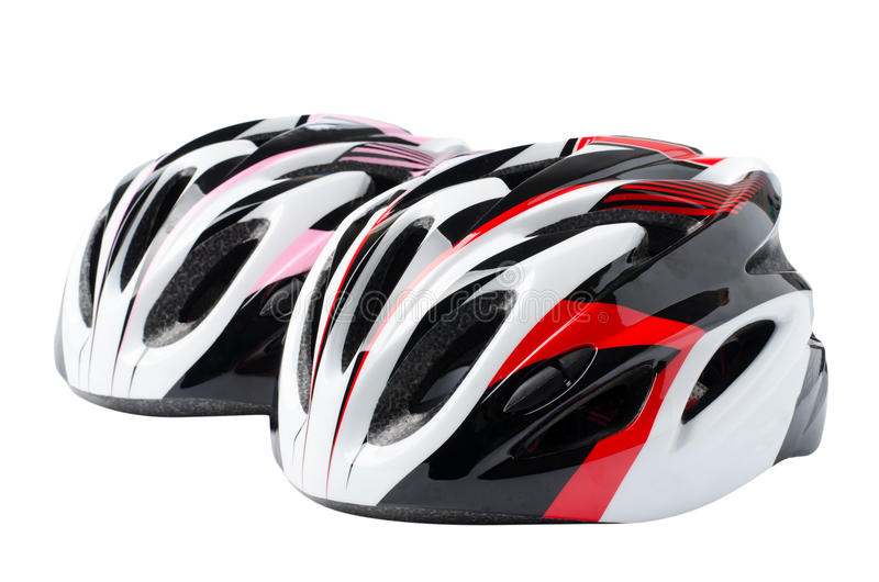 Bicycle helmet. Isolated on white background royalty free stock photography