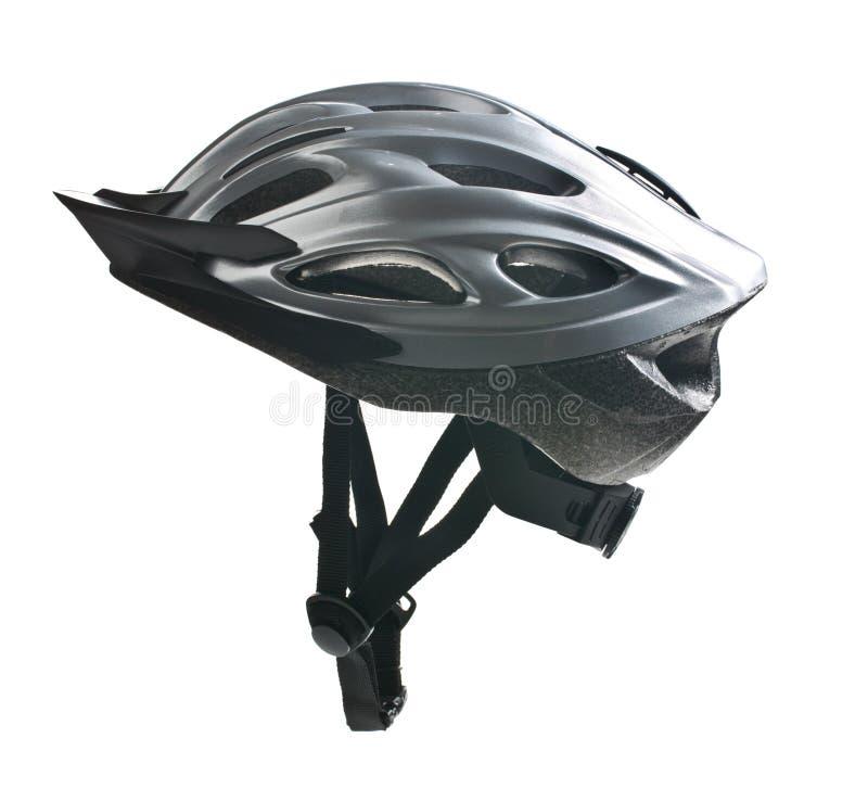 Bicycle helmet. On white background stock photo