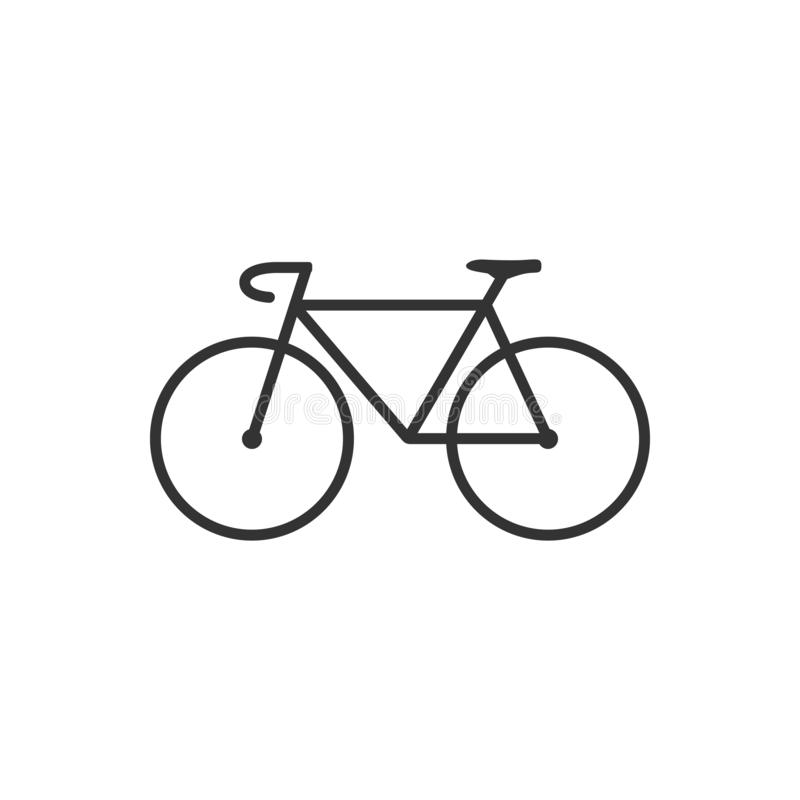 Bicycle icon. Bike Icon. Vector illustration, flat design. royalty free illustration
