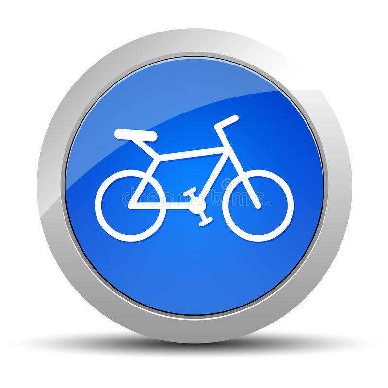 Bicycle icon blue round button illustration royalty free illustration