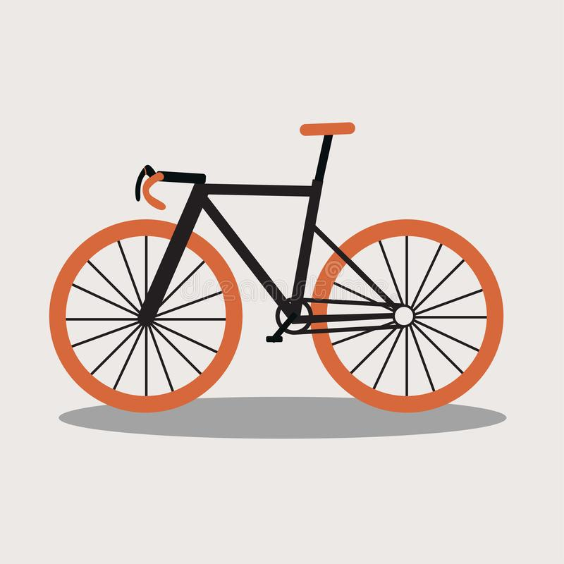 Bicycle icon in cartoon acting. Bicycle icon or sign in cartoon acting for logo vector illustration