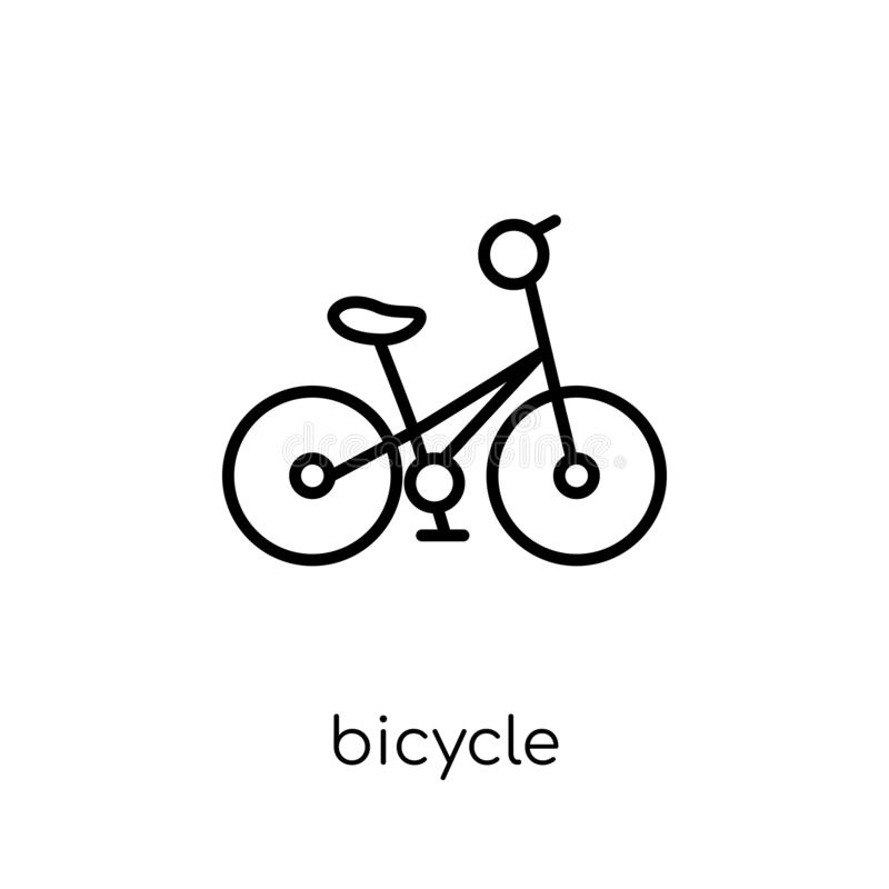 Bicycle icon from collection. stock illustration
