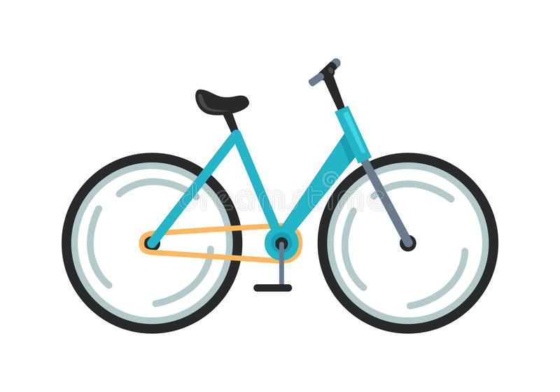 Bicycle Icon Colorful Vector Illustration royalty free illustration