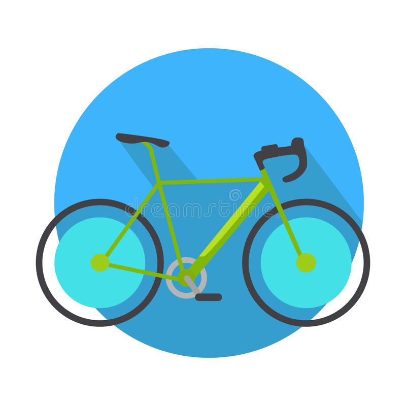 Bicycle Icon Design Flat . Bike Web Button stock illustration
