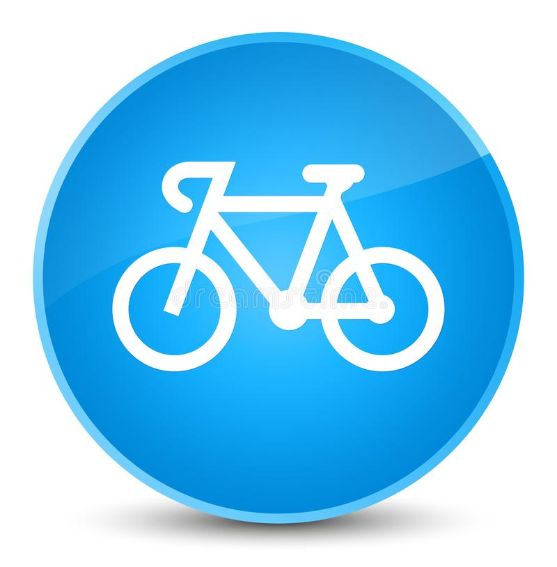 Bicycle icon elegant cyan blue round button vector illustration