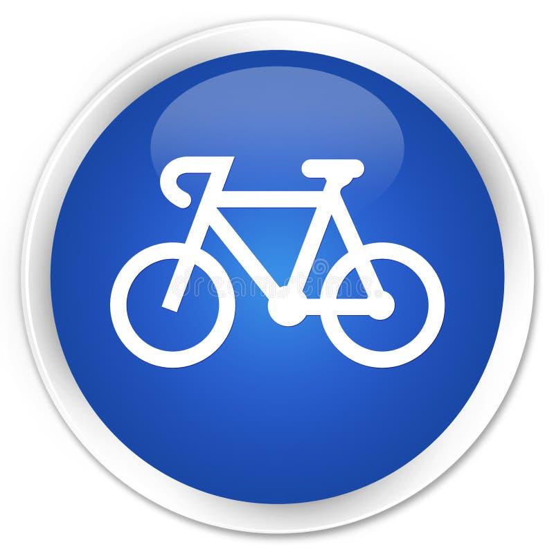 Bicycle icon premium blue round button stock illustration