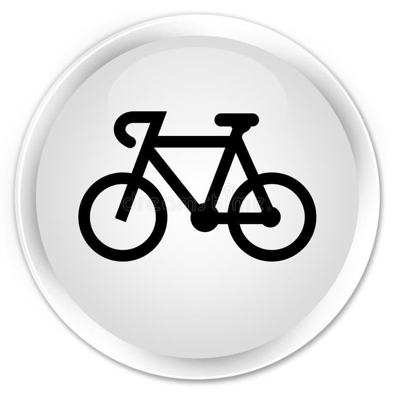 Bicycle icon premium white round button stock illustration