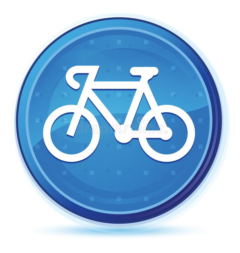 Bicycle icon midnight blue prime round button stock illustration