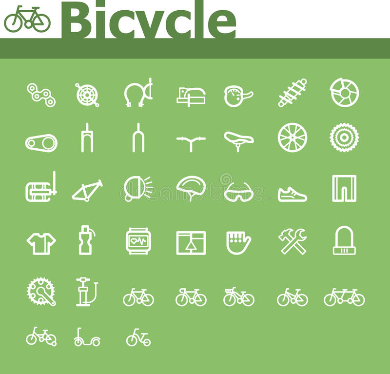 Free Bicycle Icon Set Royalty Free Stock Image - 36384726