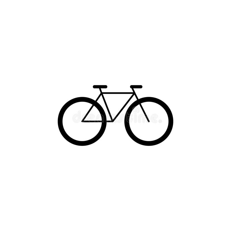 Bicycle icon. Simple glyph vector of universal set icons for UI and UX, website or mobile application. On white background royalty free illustration