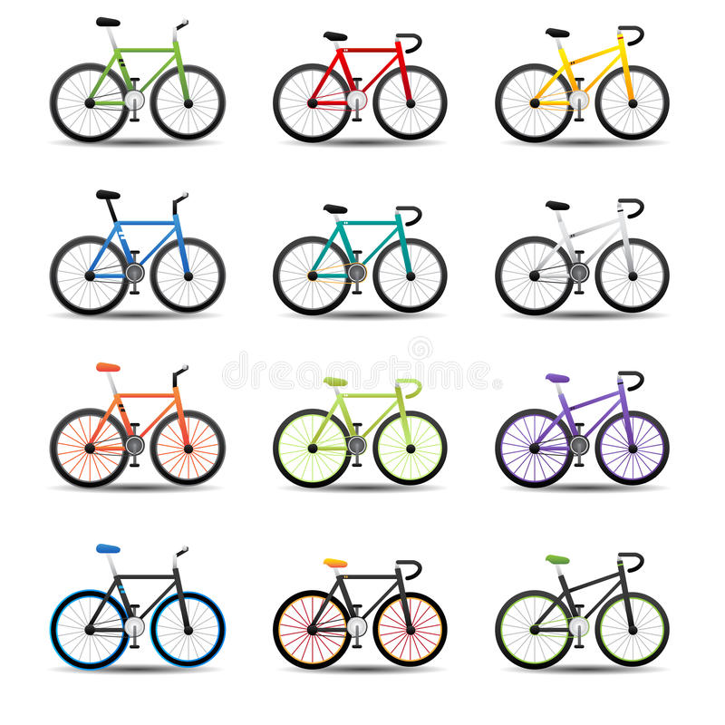 Download Bicycle icons stock vector. Image of ecological, relaxation - 31979837