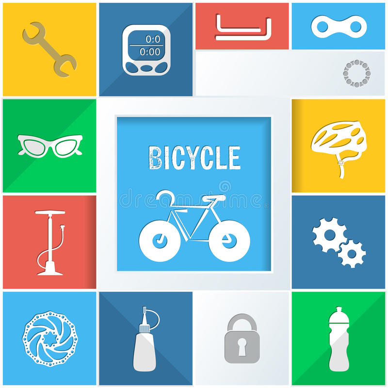 Bicycle icons vector illustration