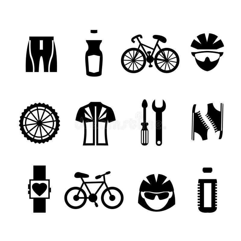 Bicycle Icons Set stock illustration