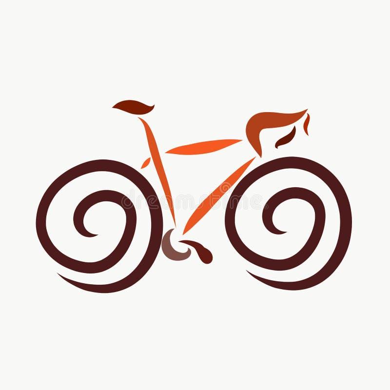 Bicycle, imagem, transporte e esportes abstratos ilustração royalty free