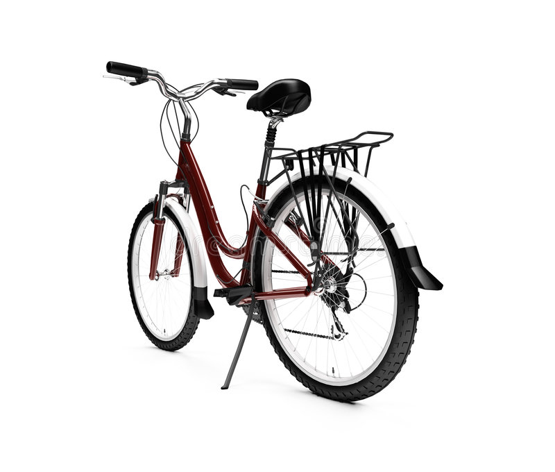 Bicycle Isolated Over White Royalty Free Stock Photo