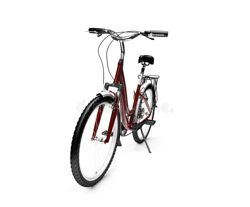 Download Bicycle Isolated Over White Stock Illustration - Illustration of background, sports: 6493375