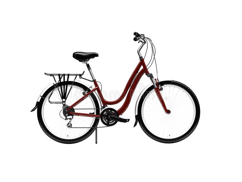 Download Bicycle Isolated Over White Stock Illustration - Image: 6493437