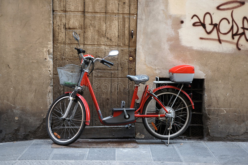 Bicycle On Italian Street Stock Images