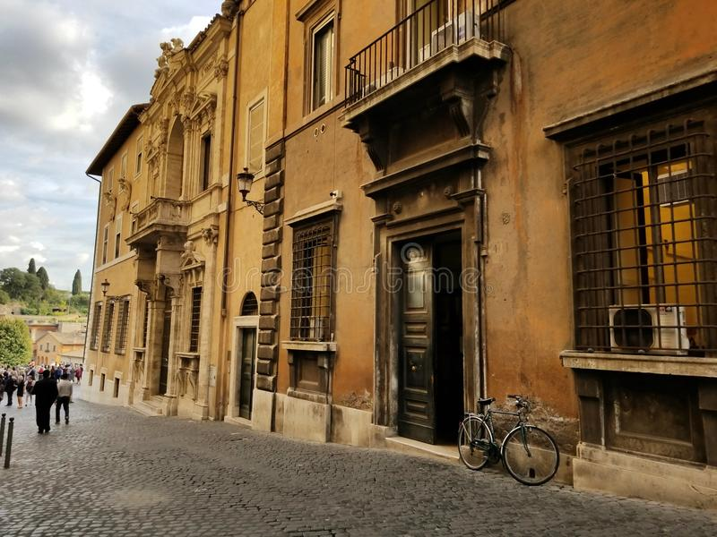 Bicycle in Italy royalty free stock photography