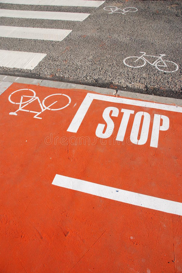 Download Bicycle lane stock image. Image of pavement, painted - 11776727