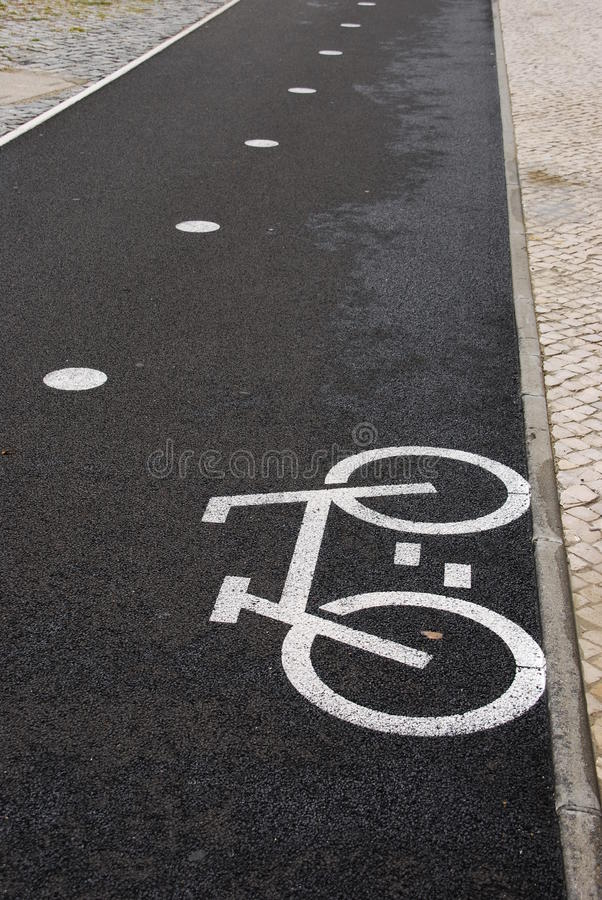 Download Bicycle lane stock photo. Image of mark, backdrop, paint - 14372680