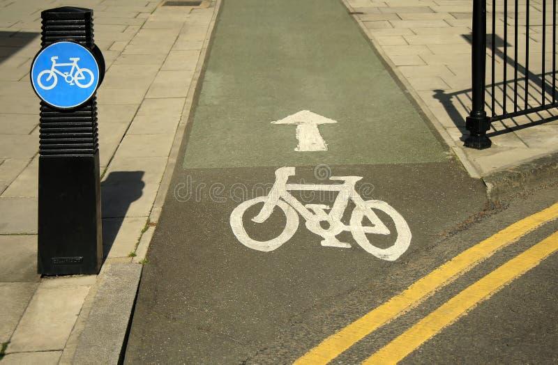 Bicycle lane royalty free stock photography