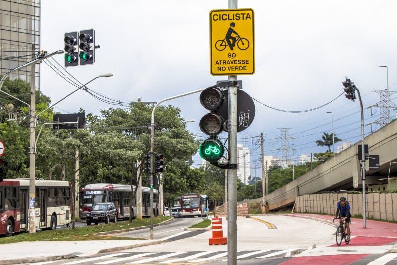 Bicycle lane royalty free stock images