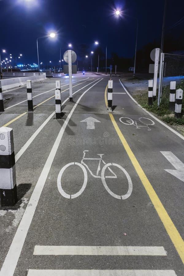 Bicycle lane sign royalty free stock photo