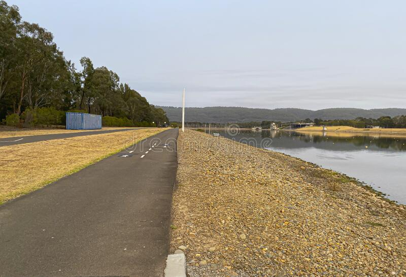A Bicycle Lane at The Sydney International Regatta Centre near the Head of the River Regatta. royalty free stock image