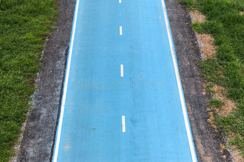 The bicycle lane stock images
