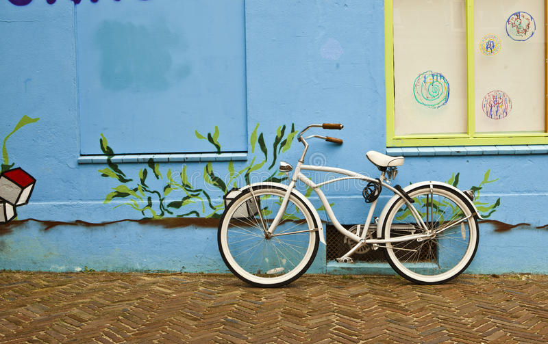 Download Bicycle Leaning Against A Wall Stock Image - Image: 24847097