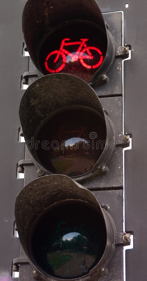 Bicycle light stop stock images