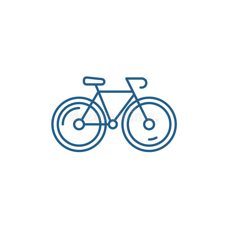 Bicycle line icon concept. Bicycle flat  vector symbol, sign, outline illustration. royalty free illustration