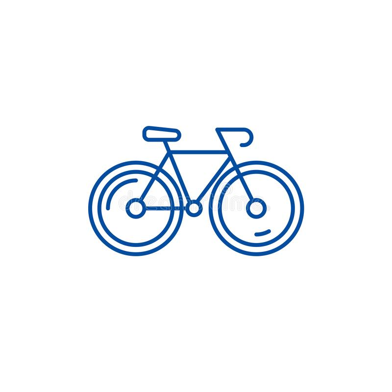 Bicycle line icon concept. Bicycle flat  vector symbol, sign, outline illustration. stock illustration