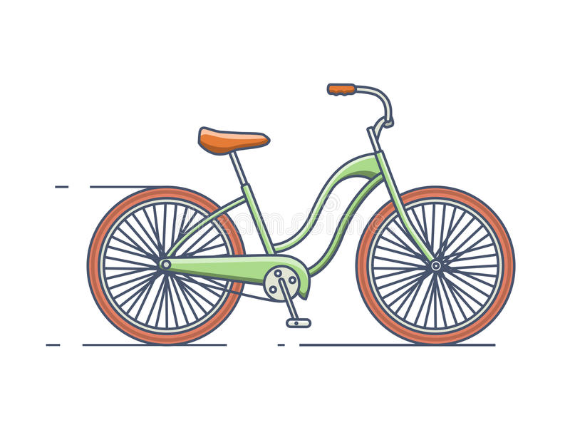Bicycle line style stock illustration