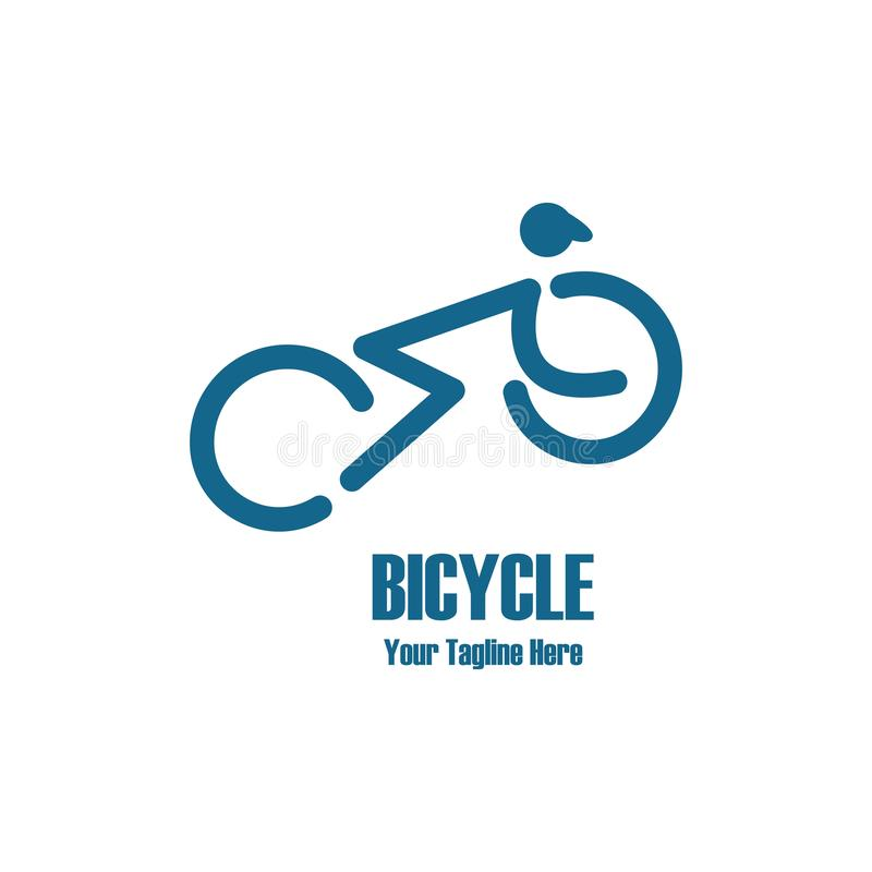 Bicycle logo royalty free illustration