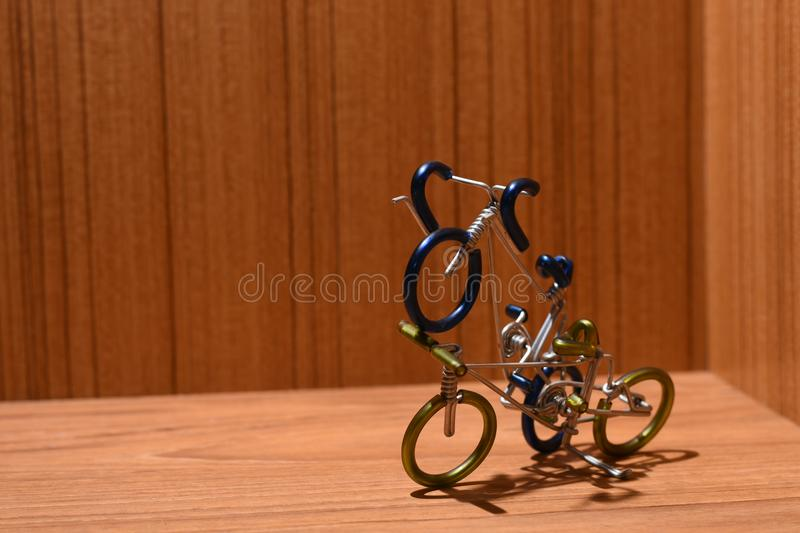 Bicycle models and text areas stock images