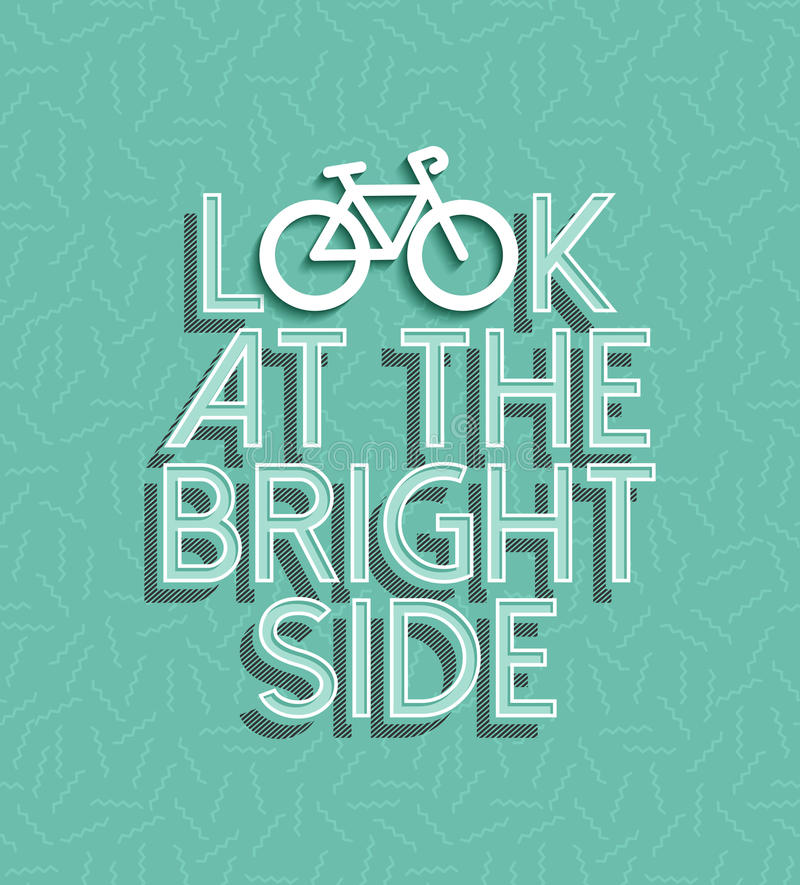 Bicycle motivation bike positive retro concept royalty free stock photography