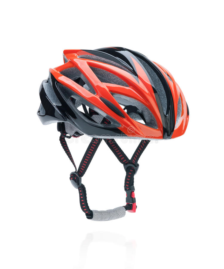 Bicycle mountain bike safety helmet. Isolated on white royalty free stock images