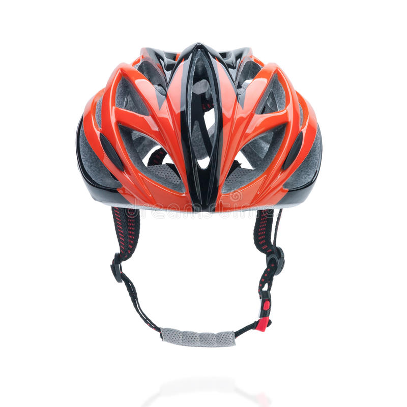 Bicycle mountain bike safety helmet. Isolated on white stock photography