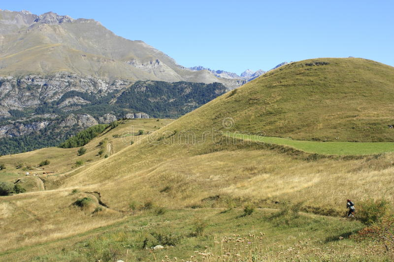 Download Bicycle In Mountains In Tena Valley, Pyrenees Stock Photo - Image: 16338652