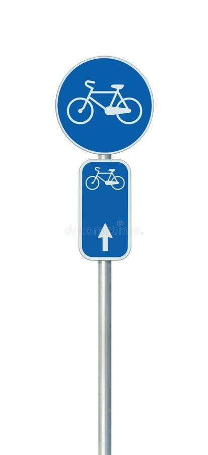 Bicycle o número da rota e o sinal de estrada da pista do ciclismo, grande close up vertical isolado detalhado, rede da bicicleta imagens de stock